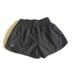 LULULEMON Black Workout Shorts Size 6